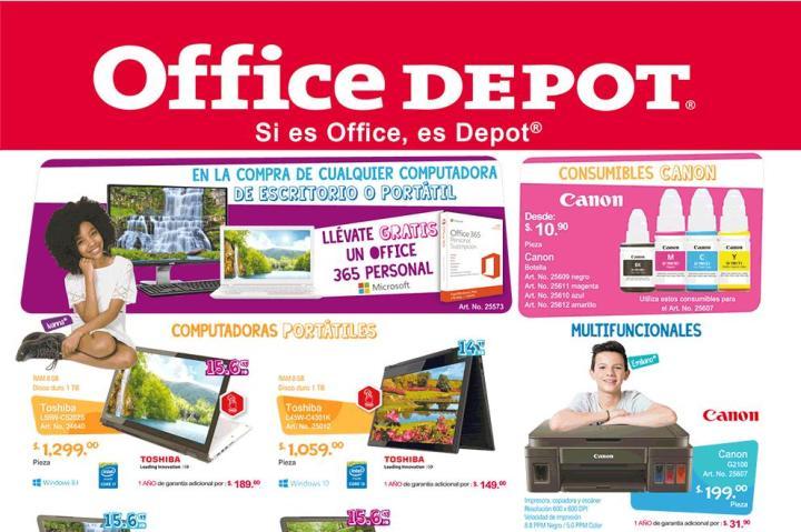 Promociones del mes OFFICE DEPOT el salvador abril 2016