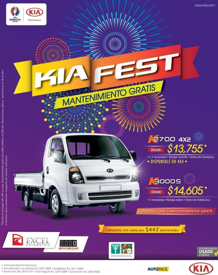 Promociones en camiones de trabajo KIA FEST 2016