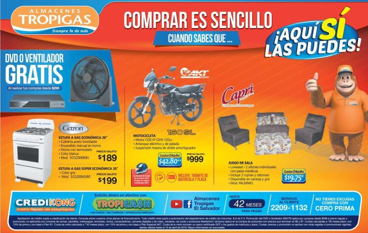 SHOPPING for salvadoriam at tropigas stores