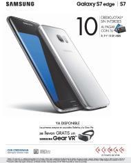 SIMAN Promocion SAMSUNG galaxy s7 edge 10 cuotas sin intereses y Gear VR gratis
