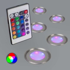 Set LED de colores a control remoto