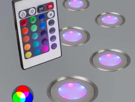Set LED de colores a control remoto