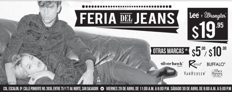 Todos los JEANS en promocion en la Feria del Jeans 2016