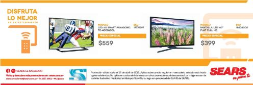 pantallas smart tv en promocion en almacenes SEARS