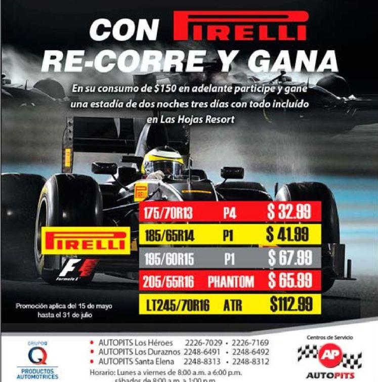 AUTO PITS promociones en llantas racing