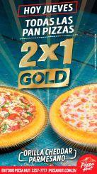 Ahora jueves buen dia para comprar y comer pizza hut