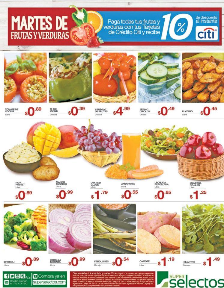 Ahora martes - 10may16 por supuesto siempre frutas y verduras