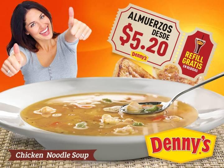 Almuerzos desde 5 dolares 20 centavos en restaurante DENNYS
