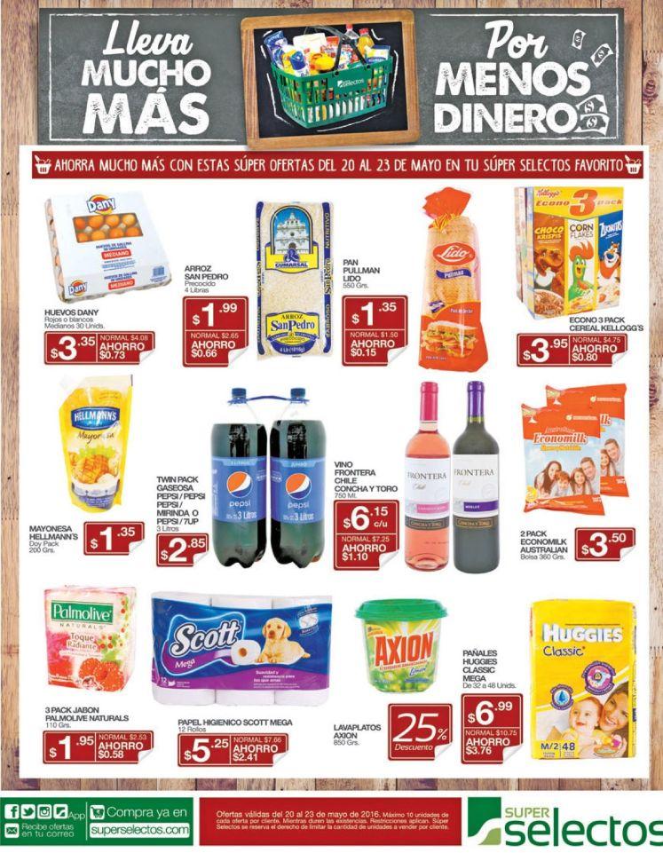 Aqui estan las ofertas de fin de semana Super Selectos - 20may16