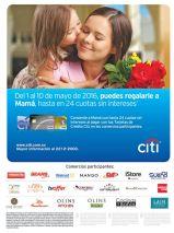 Beneficios y cuotas sin intereses en los regalos de mama gracias a CITI