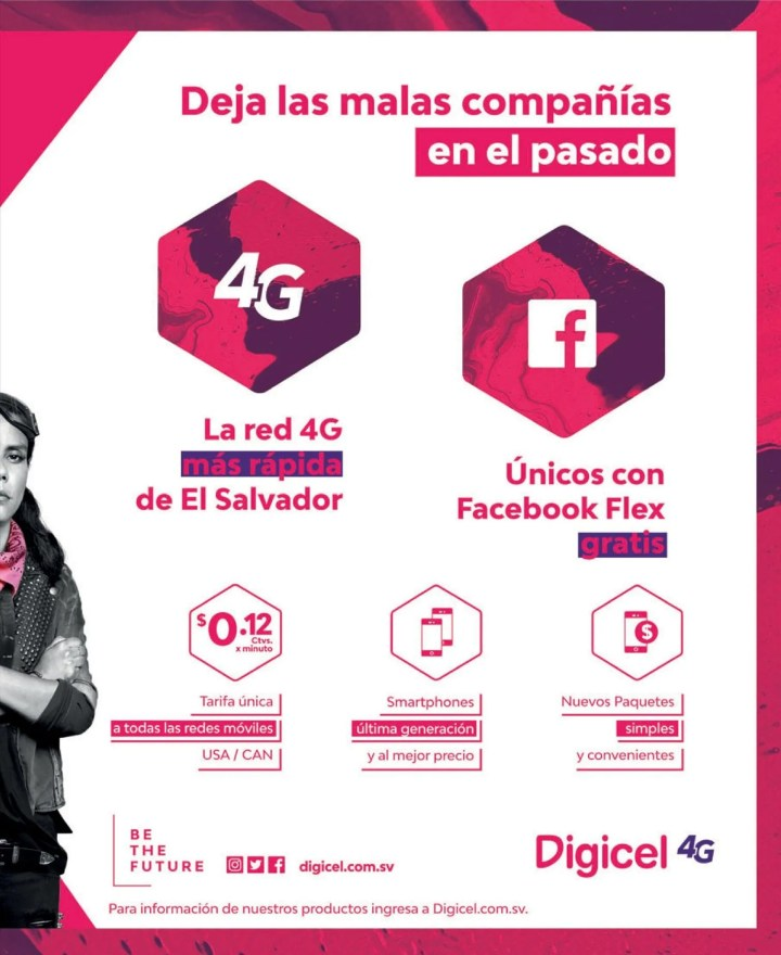 DIGICEL el salvador beneficios de la red 4G mas rapida