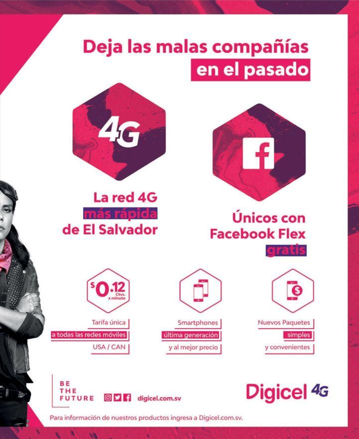 DIGICEL el salvador beneficios de la red 4G mas rapida