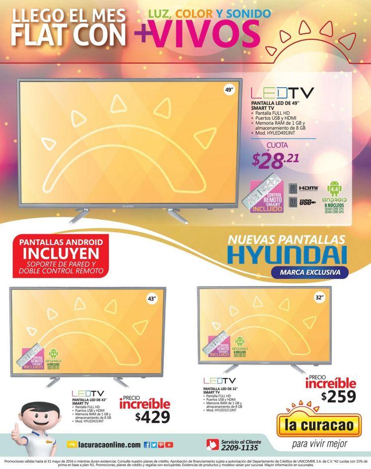 FLAT LED TV nuevas pantallas marca hyundai