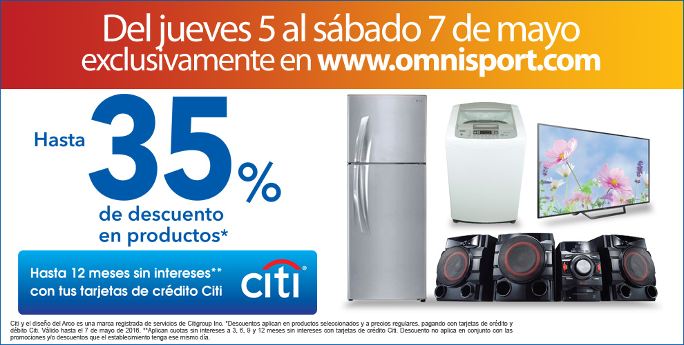 Fin de semana DESCUENTOS online gracias a CITI bank