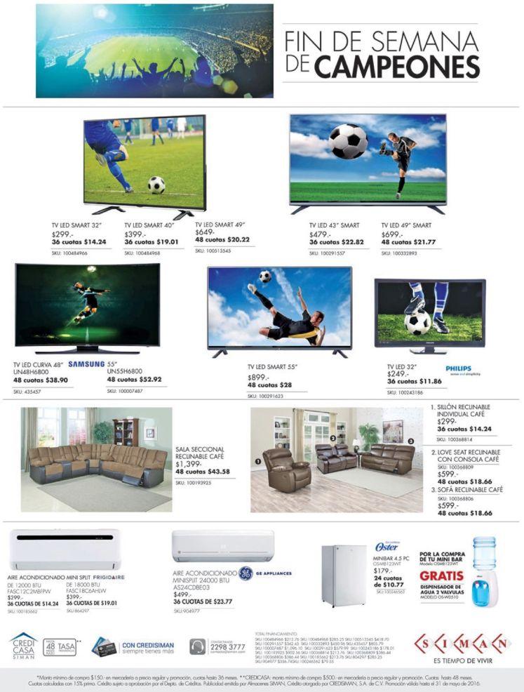 Fin de semana de campeones SIMAN muebles y televisores