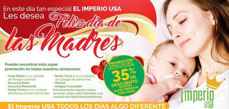 IMPERIO USA descuento ahora por dia de las madres 2016