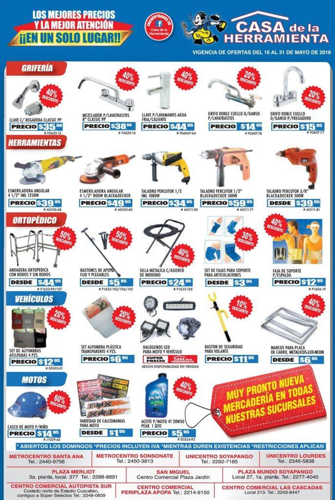 LUNES descuentos en herramientas electricas y repuestos