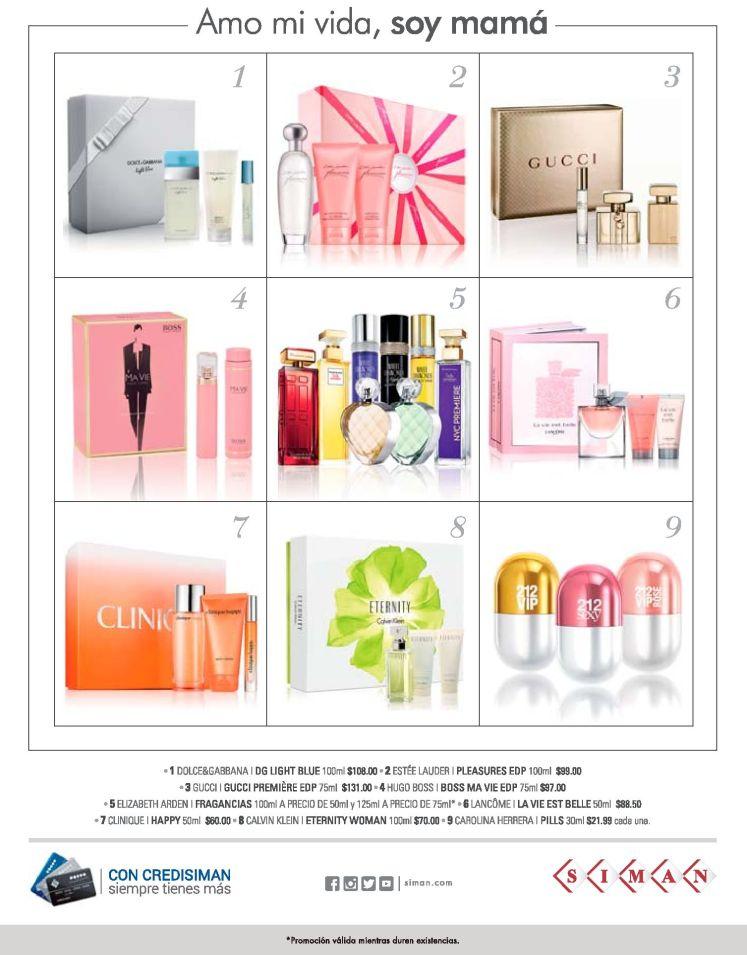Perfumes y Fragancias exclusivas para mama en Almacenes Siman