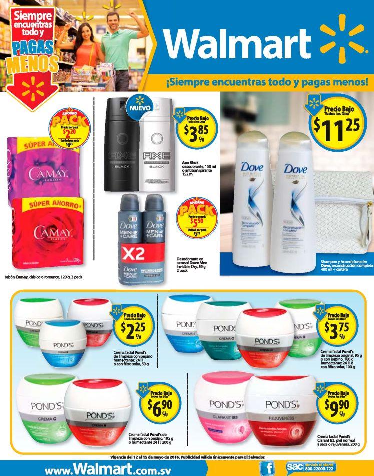 Productos DOVE and PONDS con super precios en WALMART