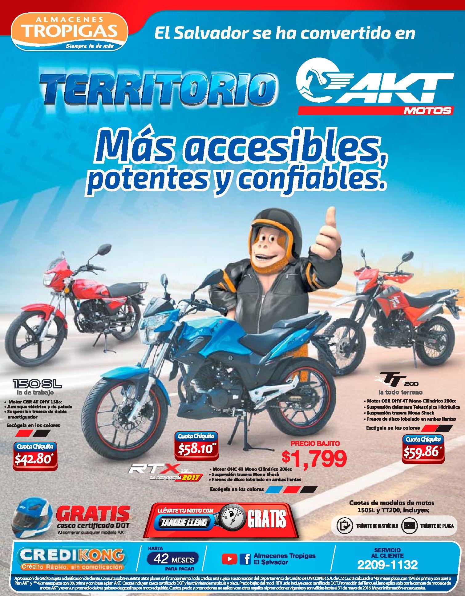 Promociones En Motos Akt Distribuidor Almacenes Tropigas Ofertas Ahora
