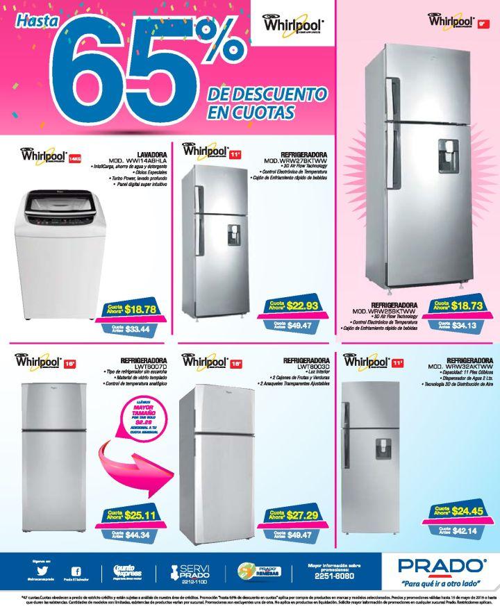 Refrigeradores WHIRPOOL con descuentos en el mes de mayo 2016