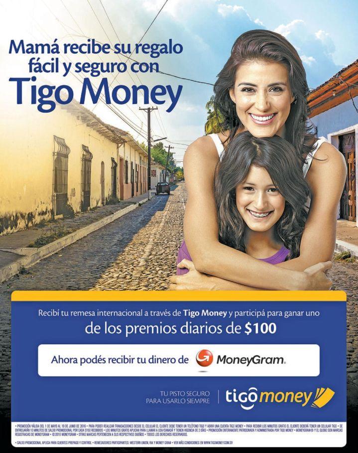Remesas y regalos para mama gracias TIGO MONEY promociones