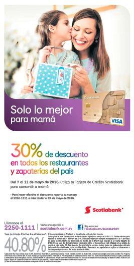 Scotiabank te facilita 30 off en restaurantes y zapaterias