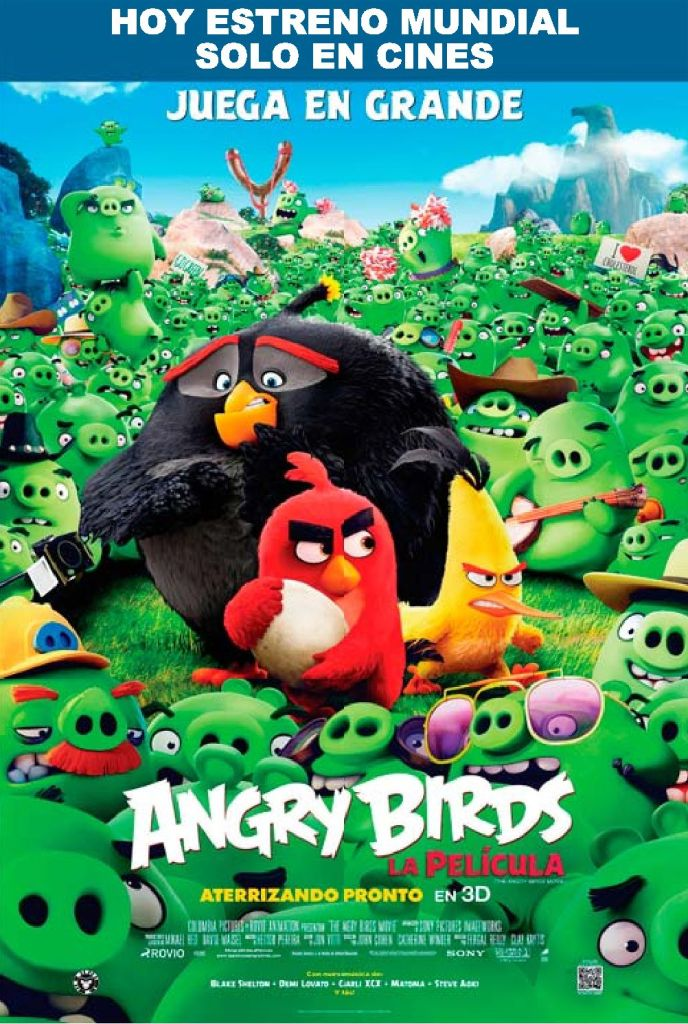 TODAY premier ANGRY BIRD the movie 3D cinema