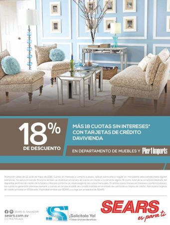 Tarjetas de credito davivienda y SEARS muebles