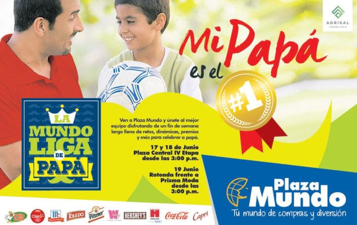 Celebrando el dia del padre 2016 en plaza mundo