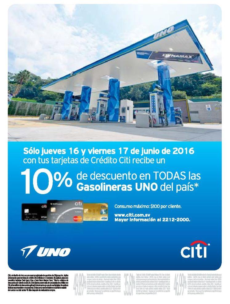 Gasolinera UNO con descuento en el dia del padre 2016