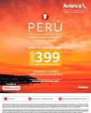 Oferta AVIANCA para viajar a PERU - 10jun16