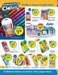 Promociones en productos escolares WLMART el salvador