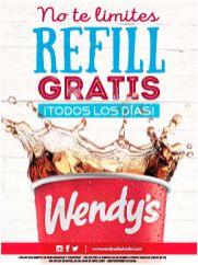 REFILL gratis de bebidas en WENDYS restaurante