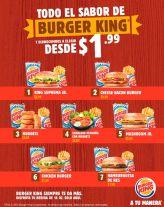 TODO el sabor de restaurantes BURGER king el slavador por solo 1_99 de dolatr