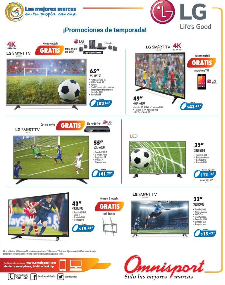 Temporadas de futbol goles y partidazos PANTALLAS LG