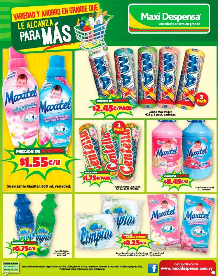 Detergentes y Suavizantes de ropa MAXI DESPENSA