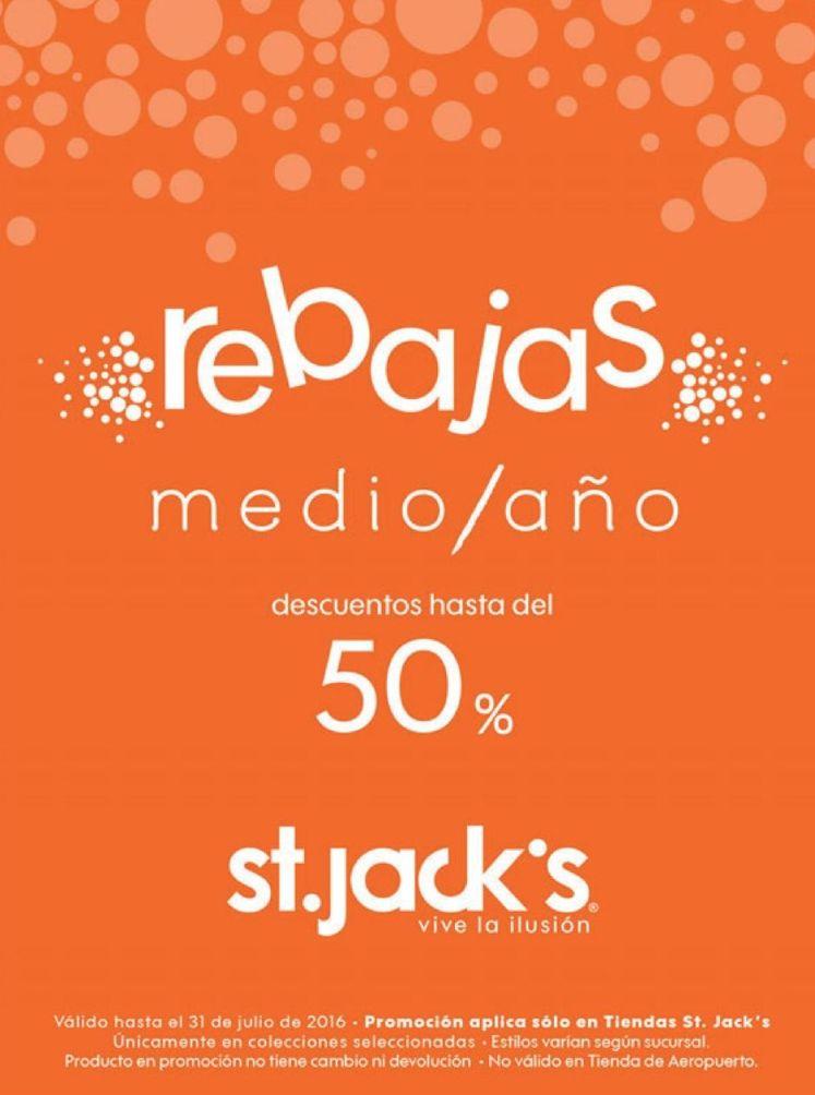 MEDIO AÑO con 50 off en tiendas st jacks el salvador