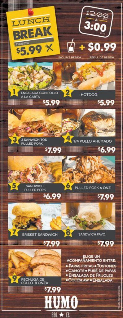 Nuevos LUNCH BREAK by HUMO restaurant el salvador
