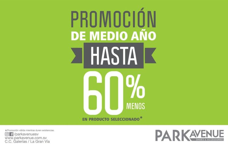 Promociones MIDDLE YEAR discounts 60 off park avenue