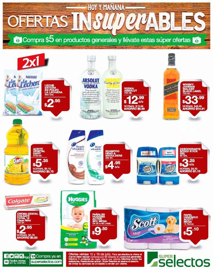 Super ofertas SELECTOS al gastar 5 dolares - 15jul16