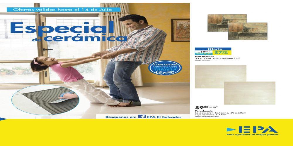 EPA elsalvador catalogo de promociones de cerámica (Julio 2016)
