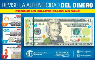 Instrucciones de Como identificar billetes falsos