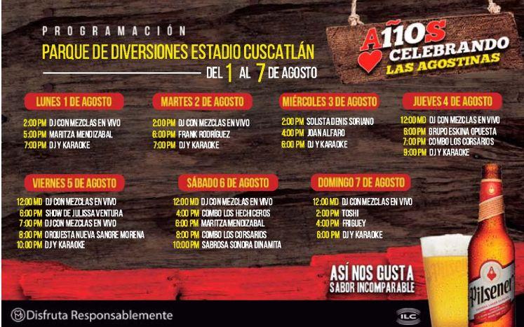 PROGRAMACION eventos parque de la feria estadio cuscatlan 2016