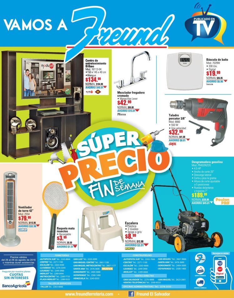 SUPER precios de fin de semana en FREUND el salvador
