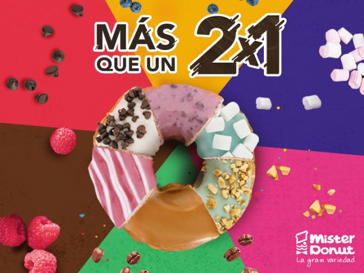 El Dia D ha llegado a mister donut 2x1 elsalvador 2016