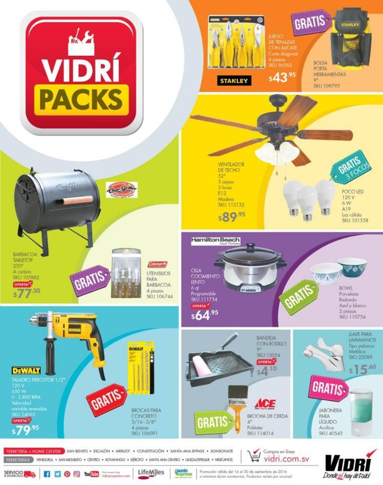 Ferreteria VIDRI catalogo de promociones septiembre y octubre 2016