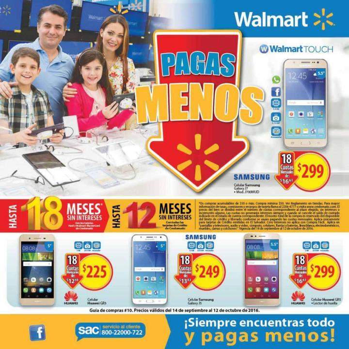 Guia de compras Septiembre y Octubre 2016 supermercados walmart el salvado