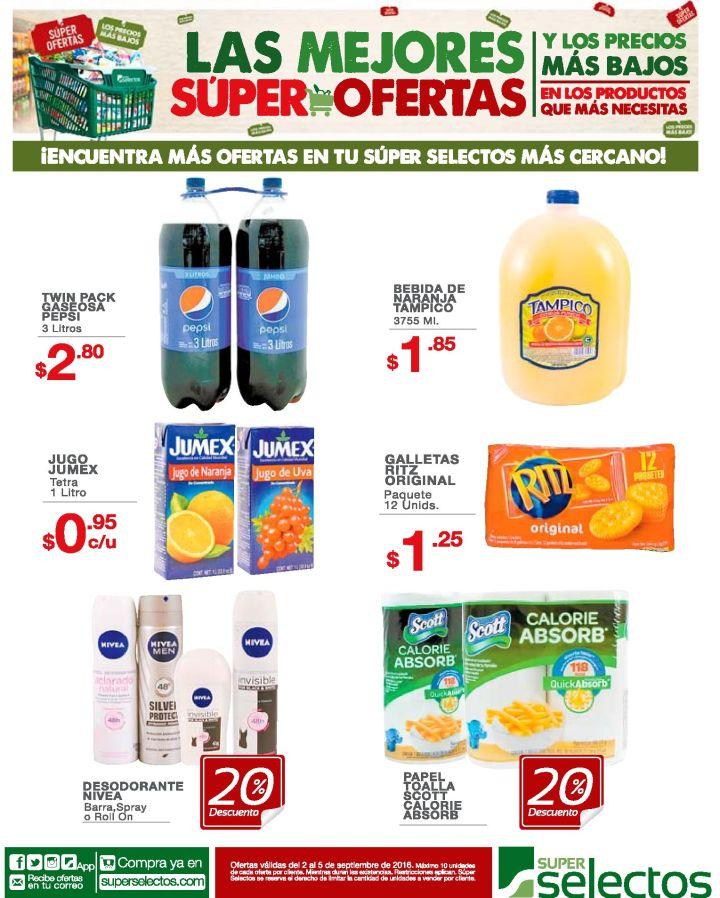 JUGOS Y GASEOSAS con precios en oferta