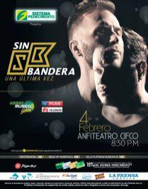 Concierto SIN BANDERA 2017 el salvador